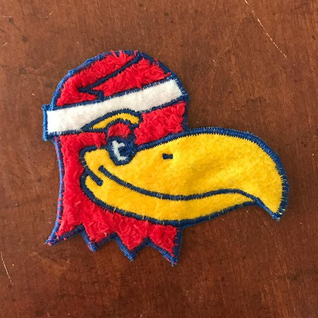 Great win last night against Jevon Carter (aka Perry Ellis's grandpa👴🏼) and WVU. Link in buy-o. . . . #kuhoops #rcjh #kubball #ku #jayhawks #perryellis #jevoncarter #wvu #Patch #patchgame