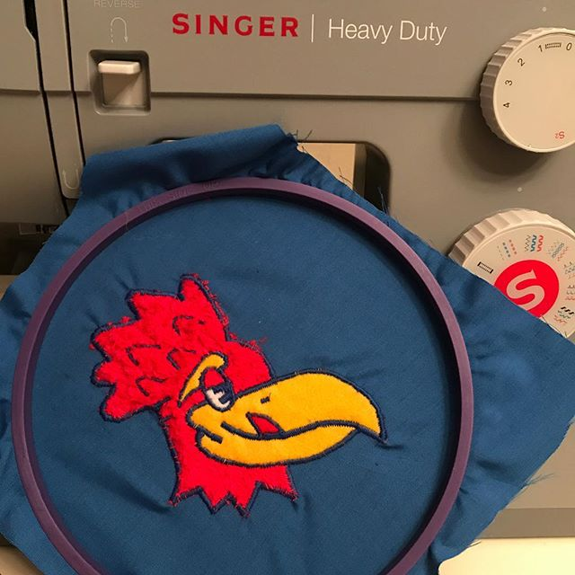 Another day, another Devonte'. . . . #kubball #seniornight #kuhoops #jayhawks #rcjh #patches #sewing #devontegraham