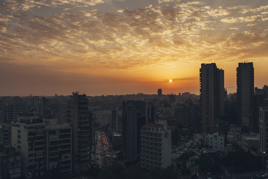 An amazing sunset during our last days in Beirut, Lebanon. This was in  Achrafieh district.