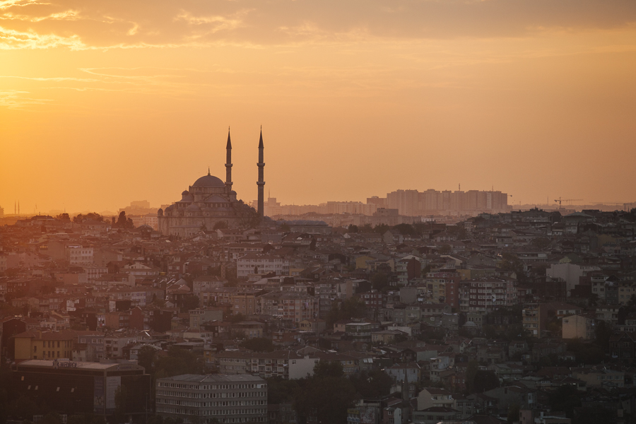 Istanbul sunset, Turkey.