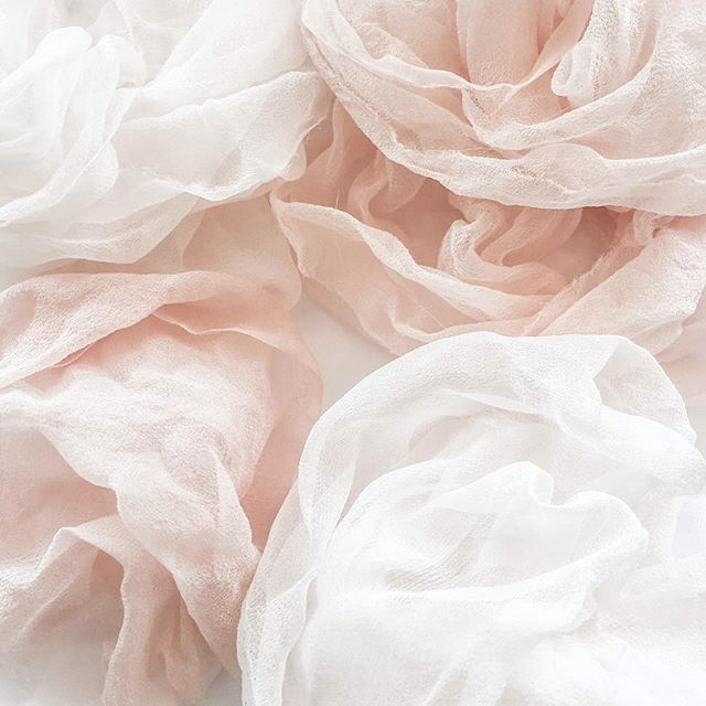 Hand dyed silk gauze, with just a pinch of color. . . . . #ombreveil #blushveil #blushwedding #blushweddingdress #madetomeasure #bespoke #dressmaker #weddingfashion #stylishweddings #coolbride