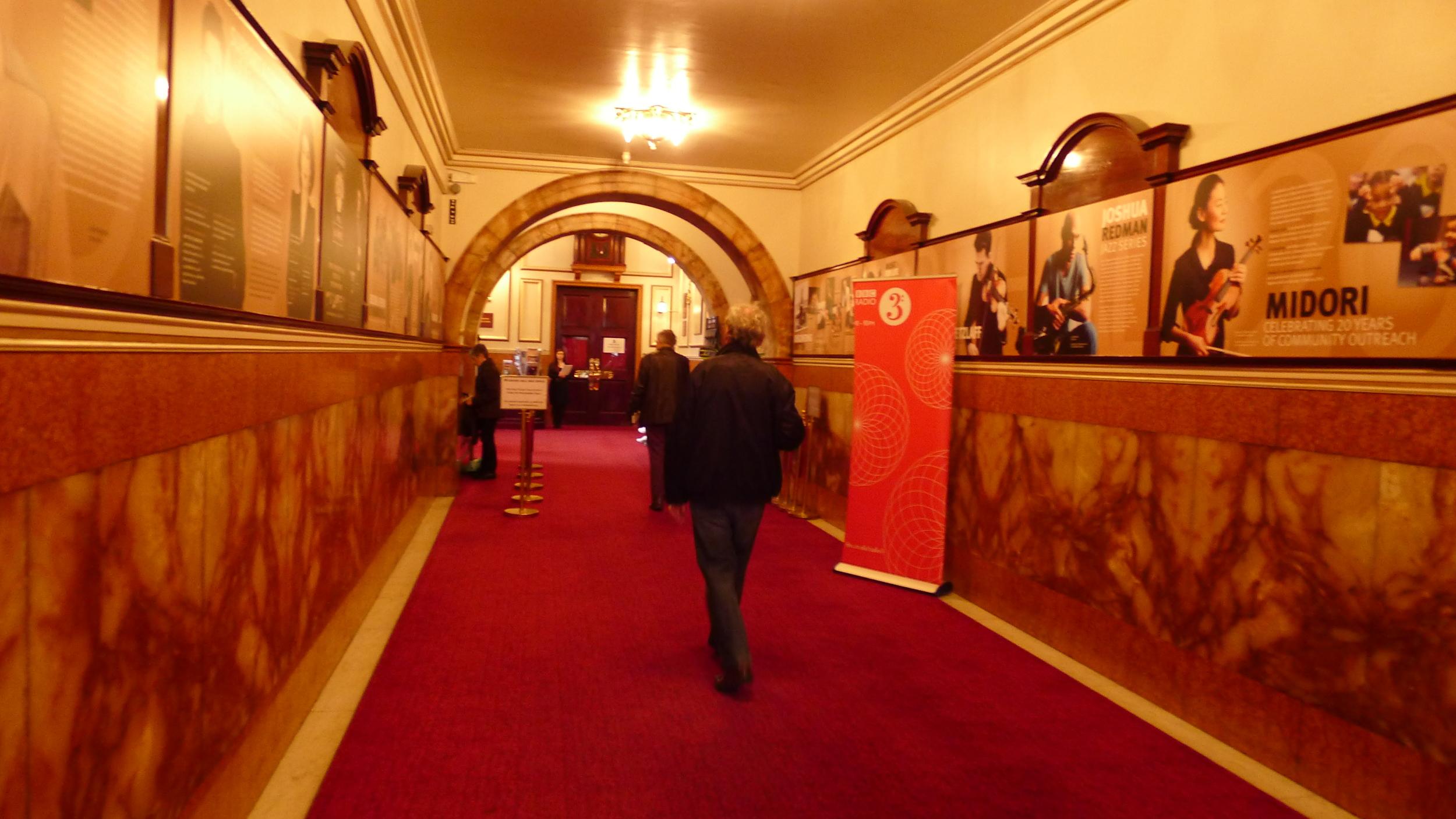 Entering Wigmore Hall