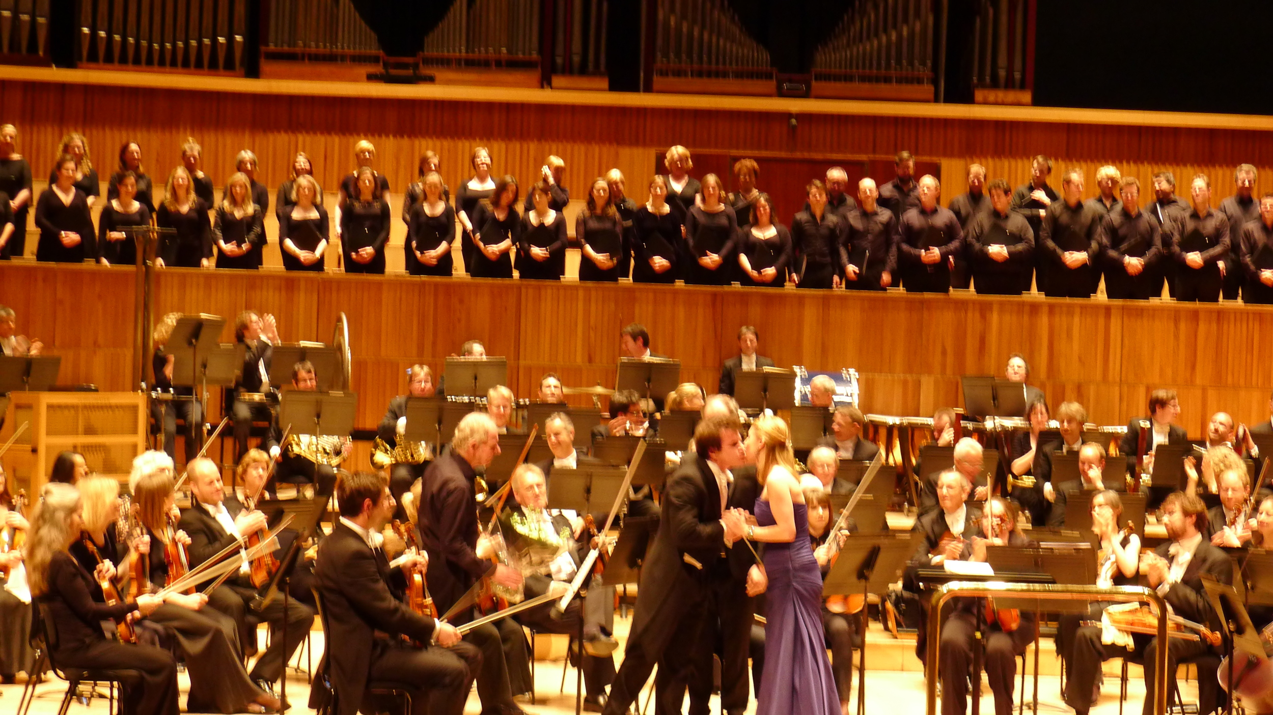 Maestro Hrusa and soloist at the end of Alexander Nevsky