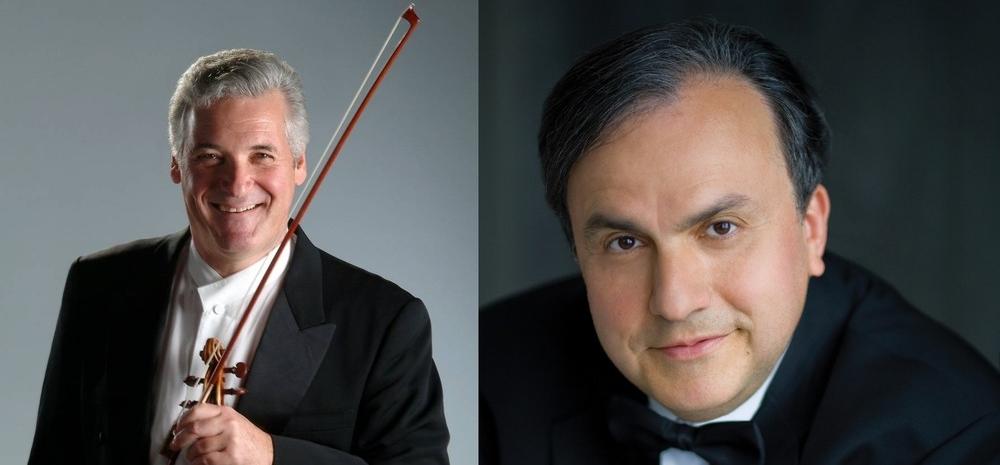 Pinchas Zukerman (left), and Yefim Bronfman (right)