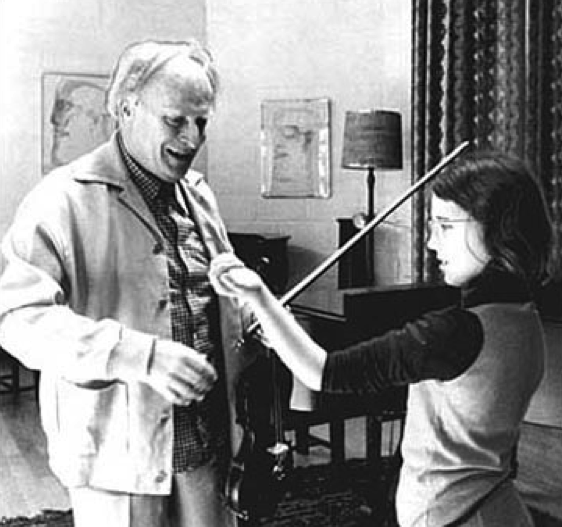 Tasmin (age 10) with Yehudi Menuhin