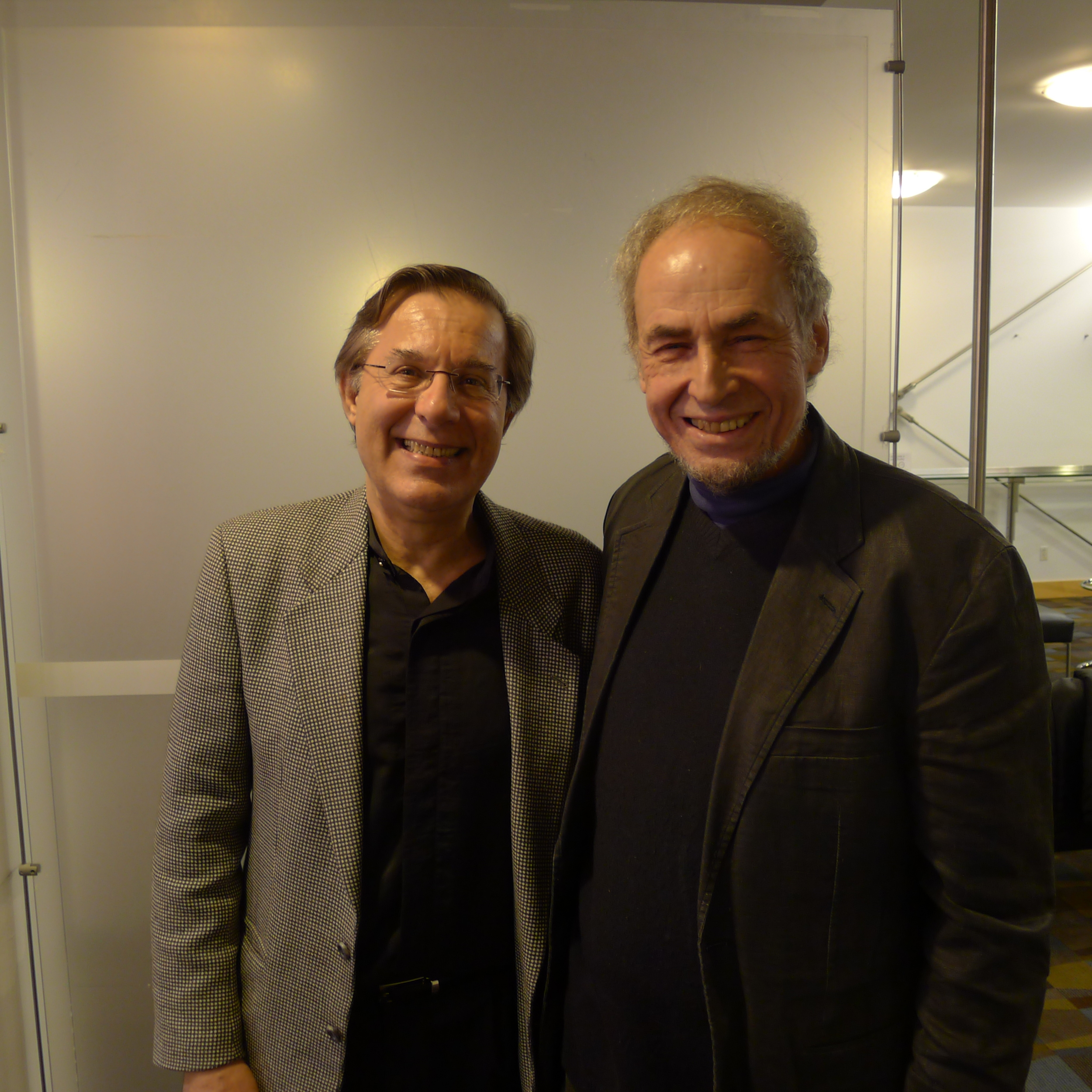 With Dr. Newman.