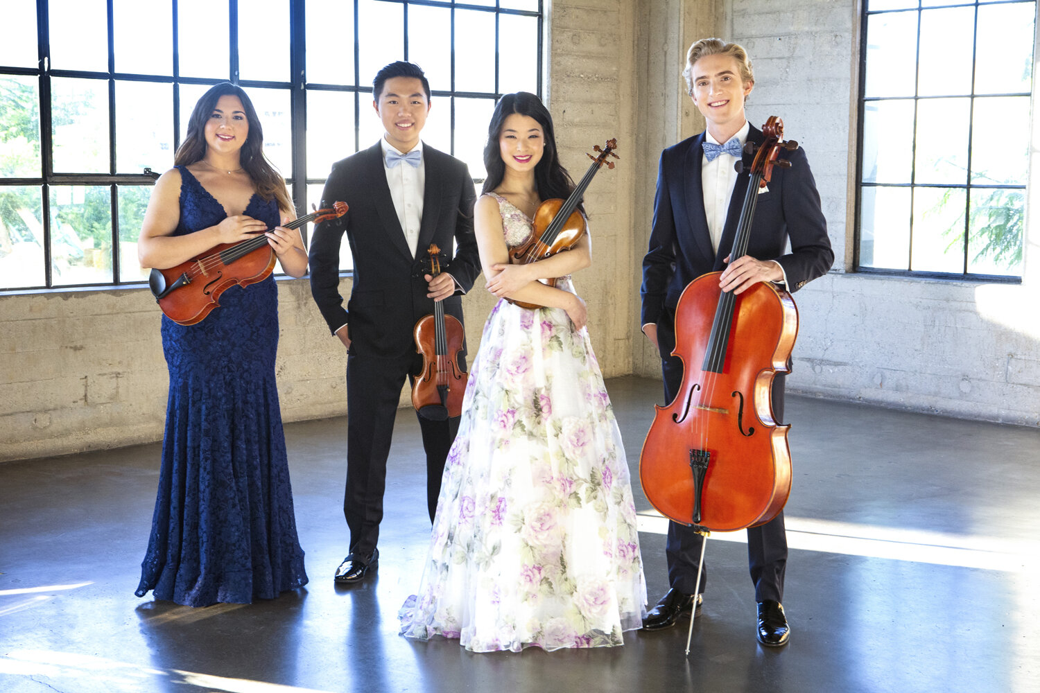 Viano String Quartet, co-winners of the 2019 Banff International String Quartet Competition.