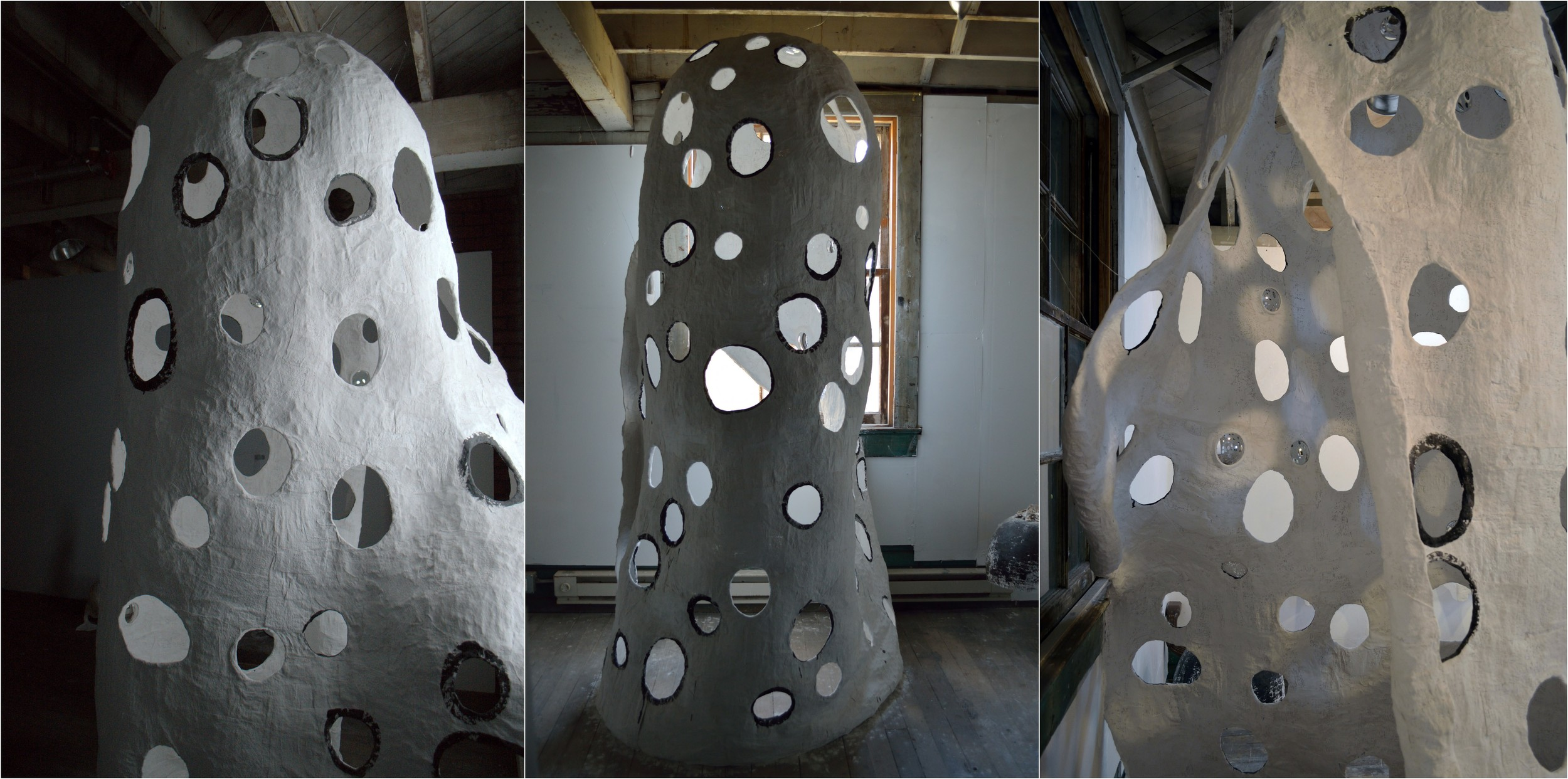 Permeable Paraboloid (i like to see infinity), 2013    exterior views: right side, frontal, entryway-left side
