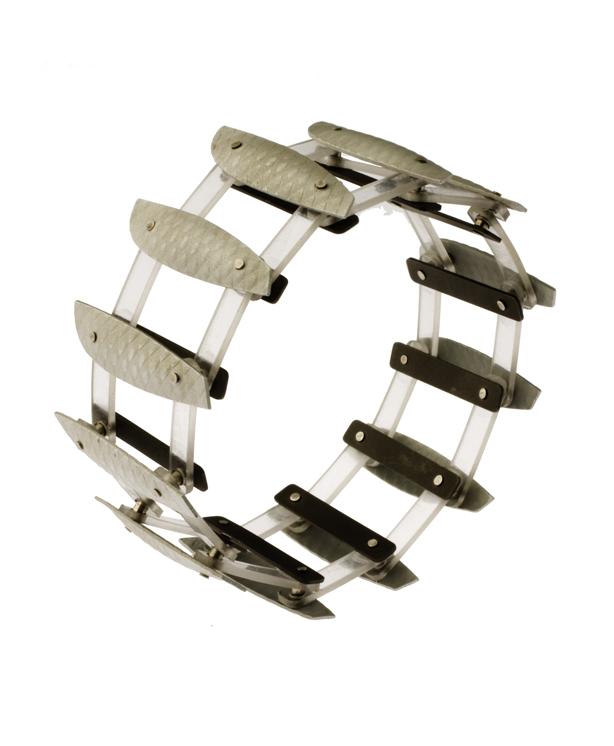 Kinetic Bracelet  Armband  Aluminium, polypropylene, sterling silver
