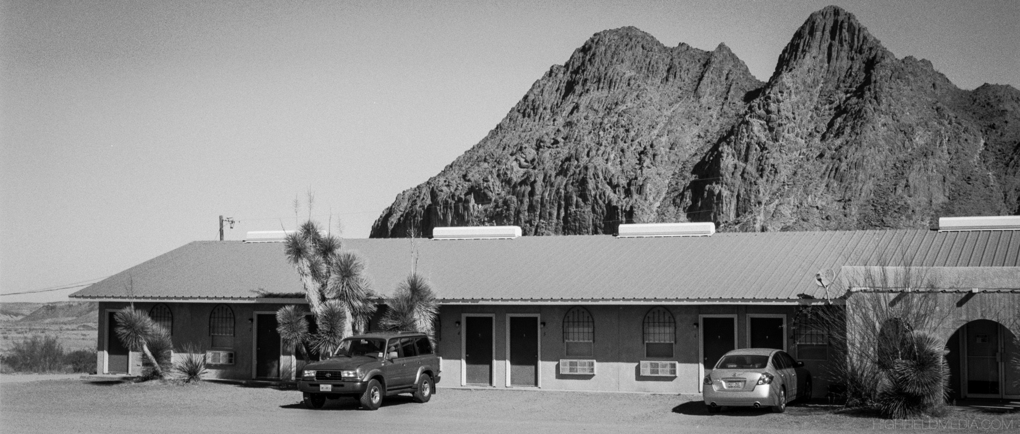 The Big Bend Mission Lodge in Study Butte-Terlingua, TX. Although the rooms are spartan, they're clean and affordable.