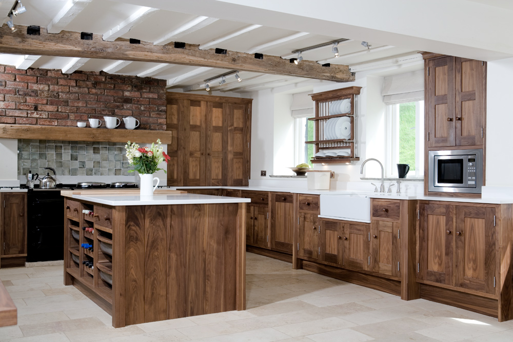 Solid Wood Walnut Kitchen Simon Mcconville Kitchens And Furniture