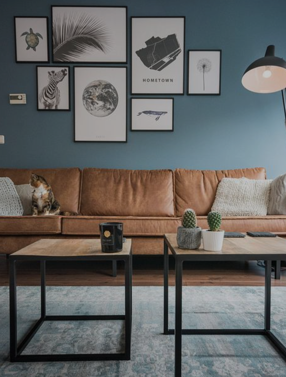 - Industrial StyleMany offices use this style of decorating by having lot of metal and simple cool colors. B&W looks great with this style, but with simple lines and compositions.
