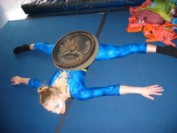 STRETCHING TIME AT THE CIRCUS