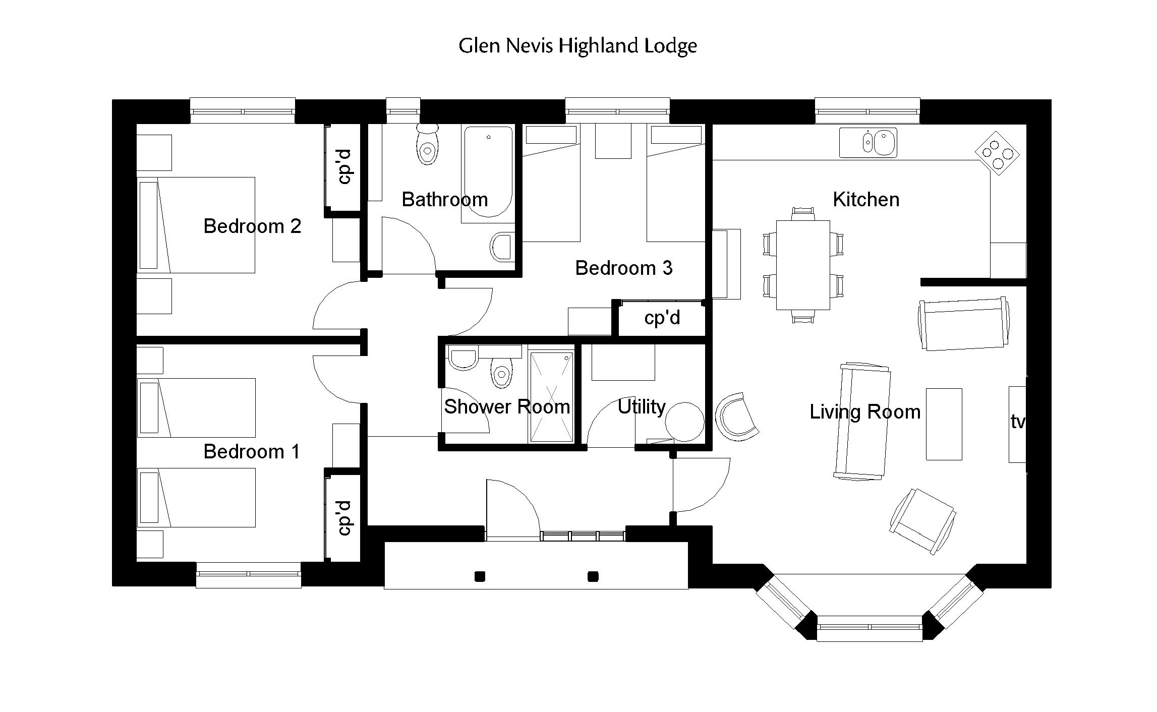 Highland Lodge Floorplan