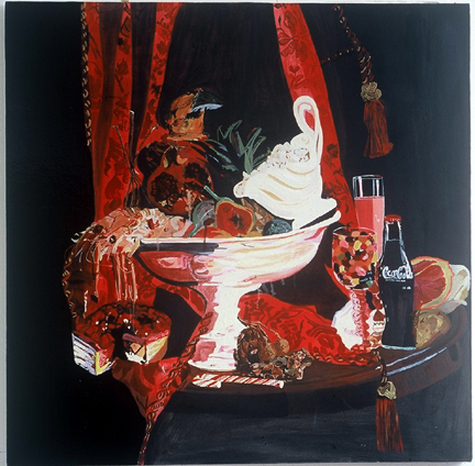Feast   Oil on Canxas  100 x 100 cms  2005