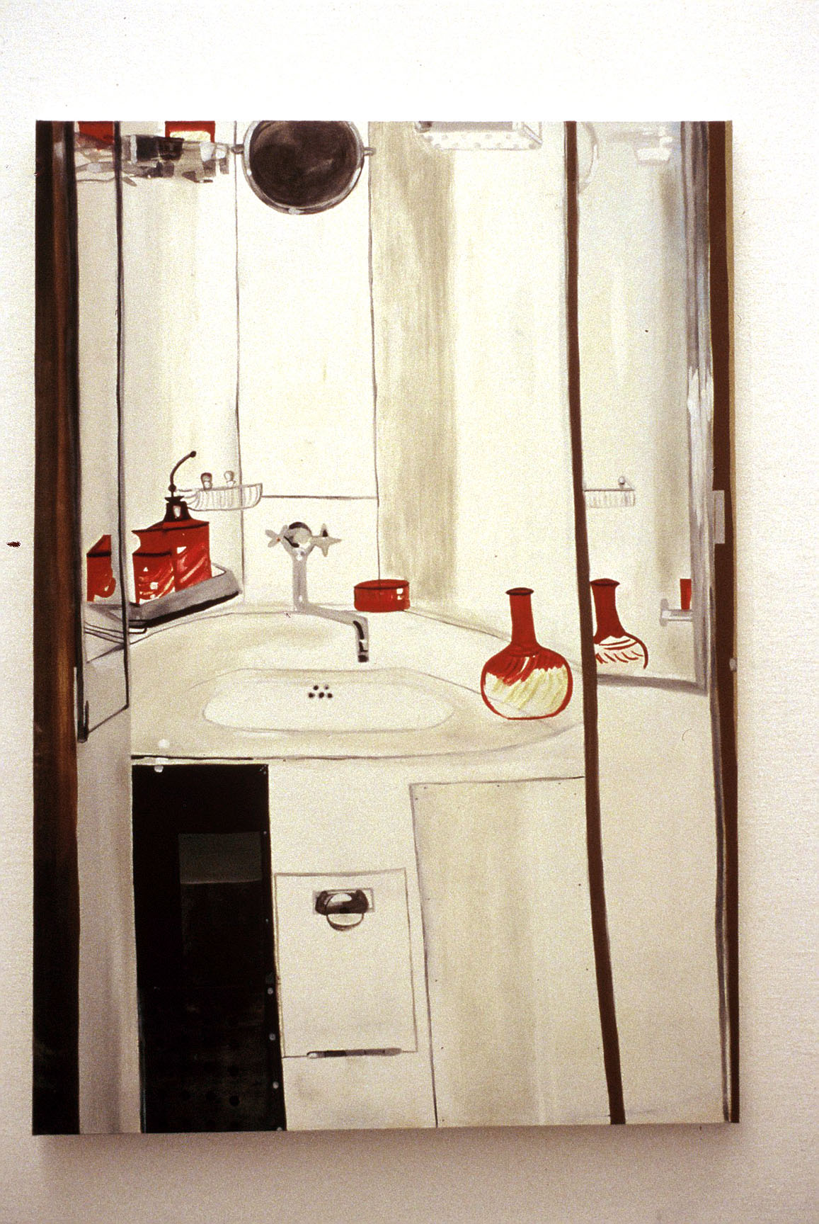 Sink Cabinet     Oil on Canvas 167 x 116 cms