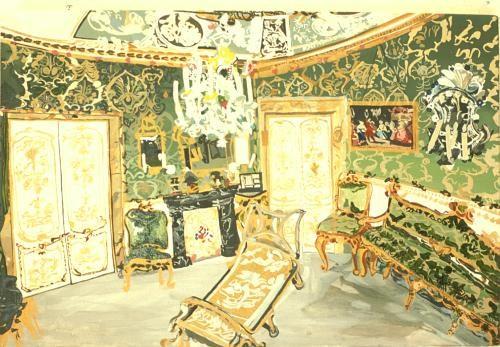 Palazzo Doria in Rome   Oil on Canvas  34 x 50 cms