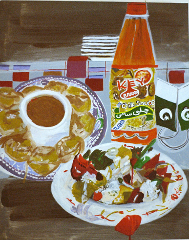 Chilli 'Saas'   Oil on Board  50x40 cms