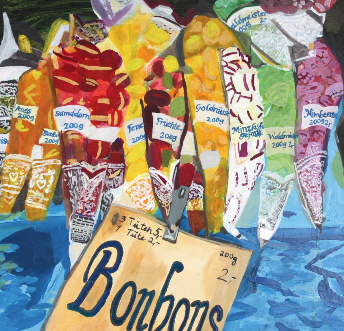 Bonbons   Oil on Board  44x42 cms