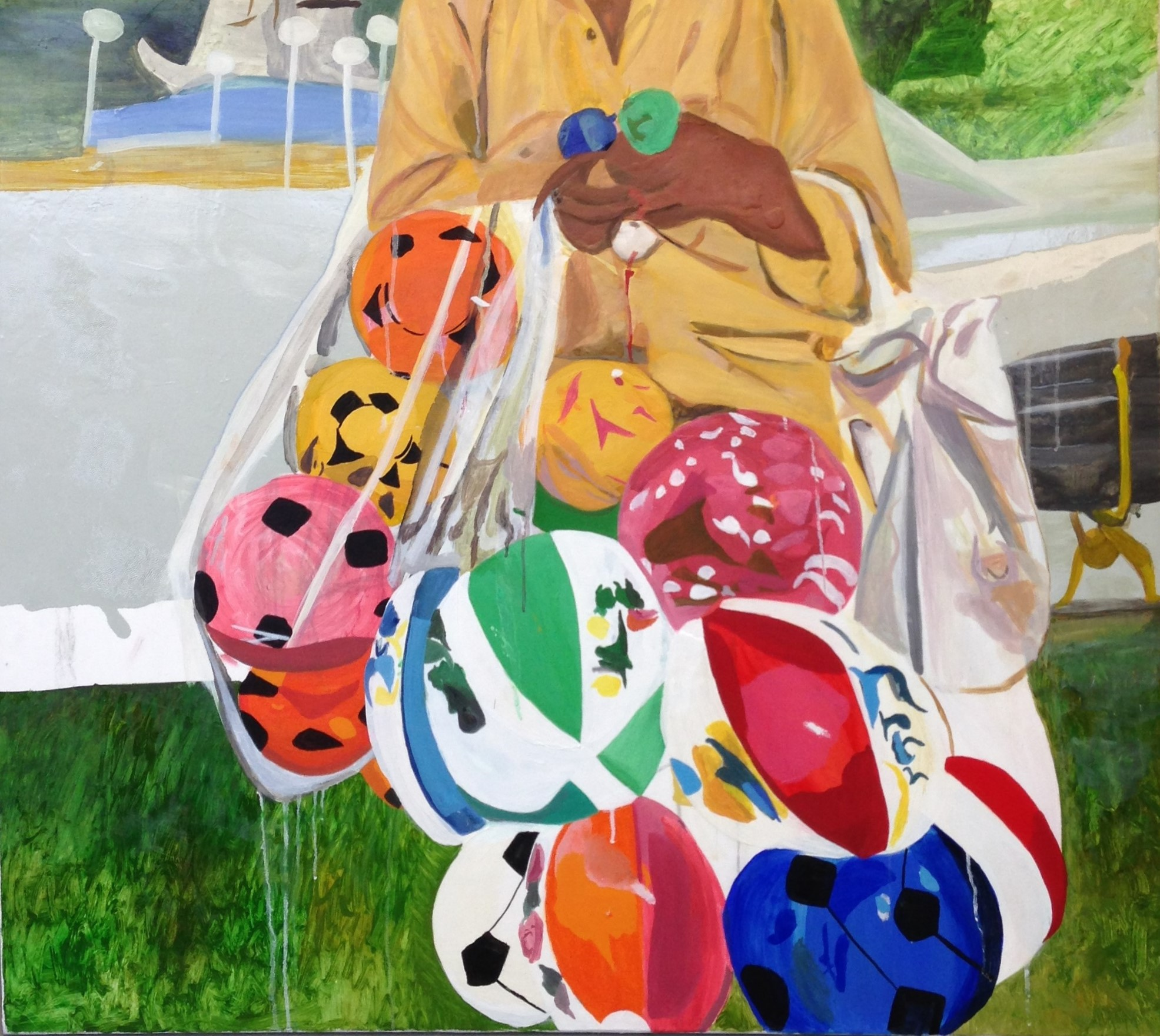 Balloon Man   100 x 90 cms // oil on canvas