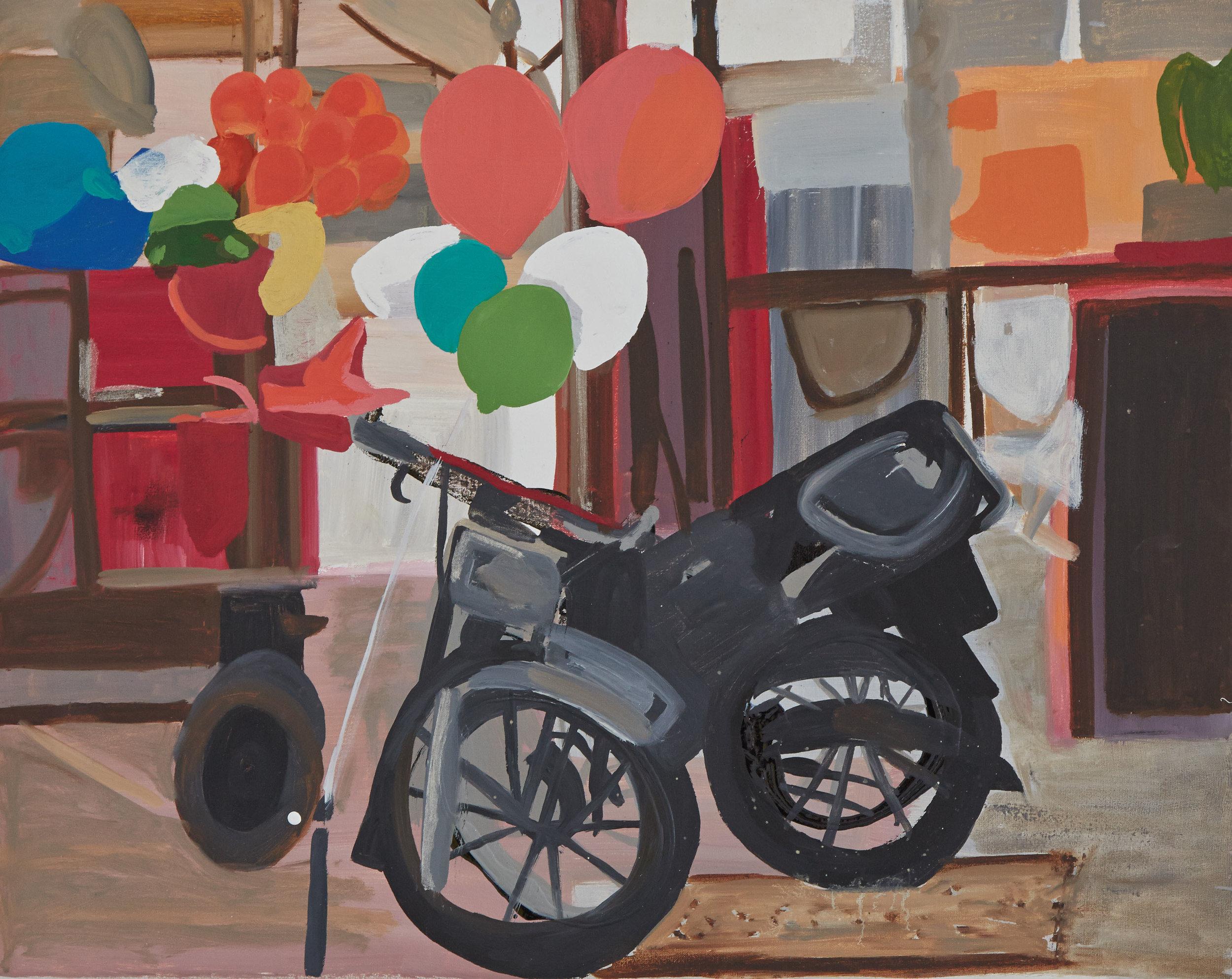 Balloon Motorbike   50 x 40 cms // oil on canvas
