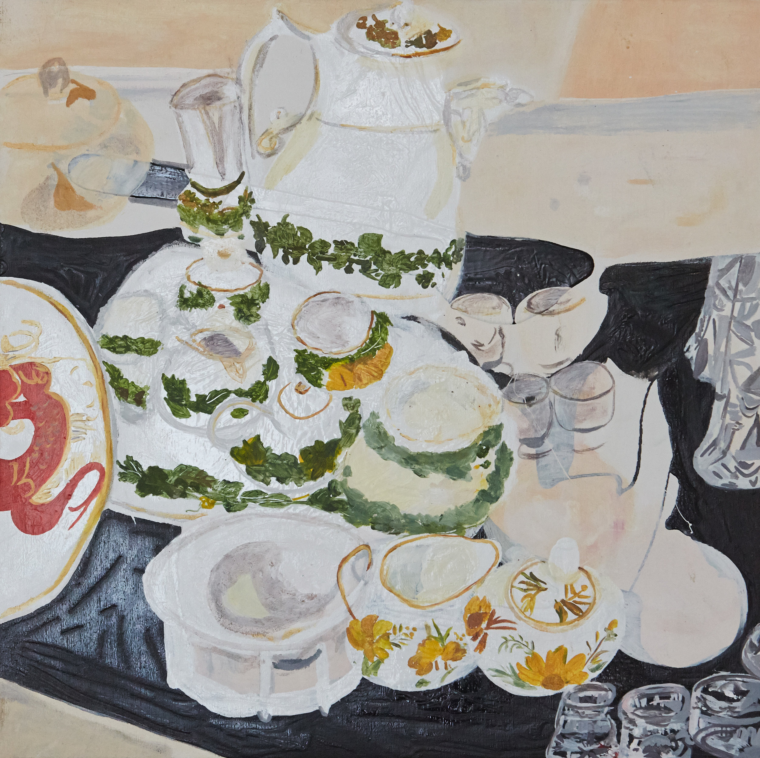 Teatime   50 x 50 cms // Oil on canvas