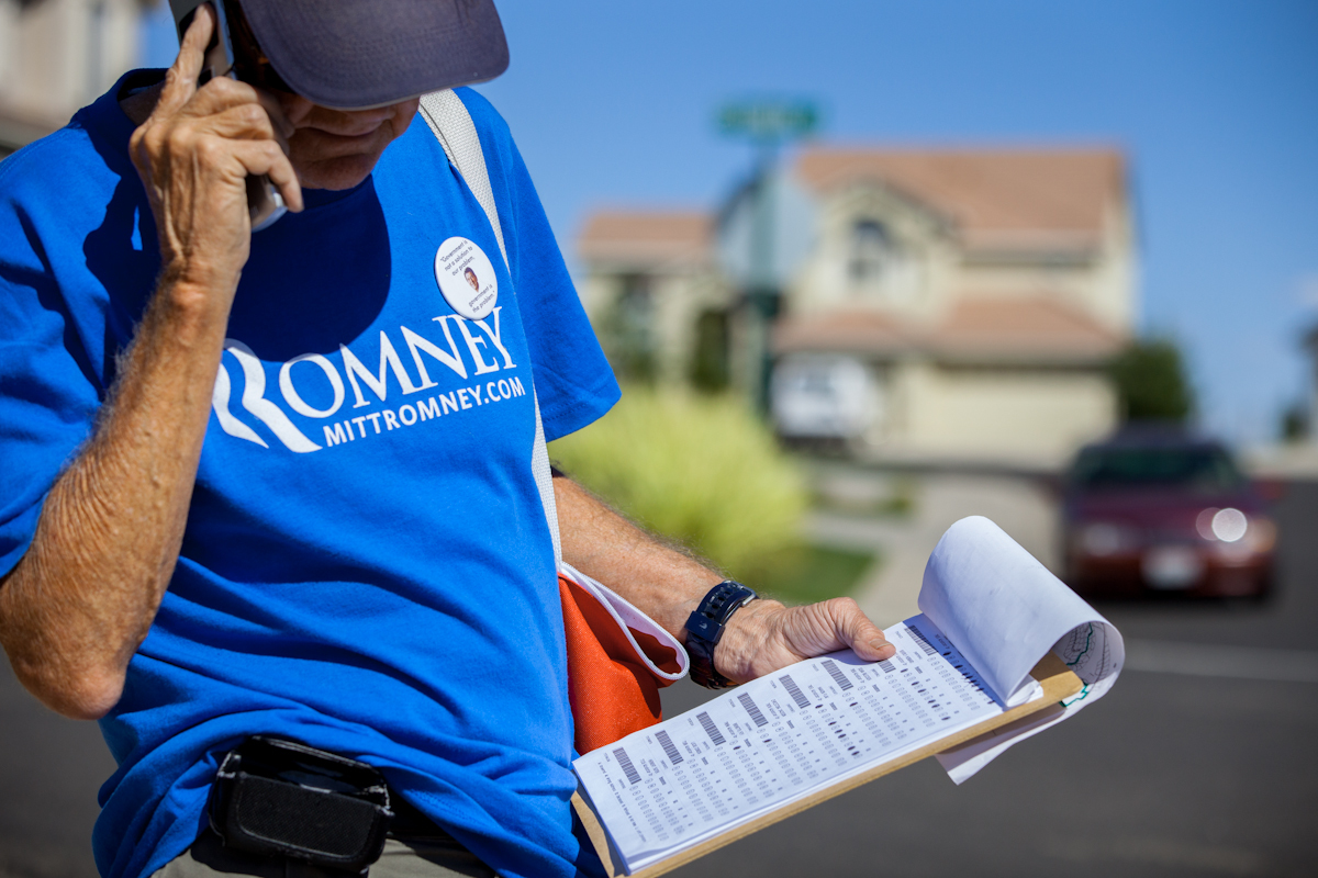 Romney Canvaser in Reno, Nevada