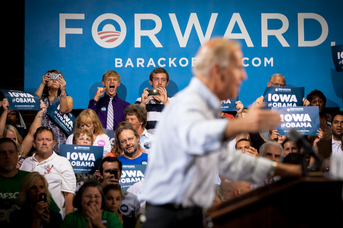 Biden in Burlington, Iowa