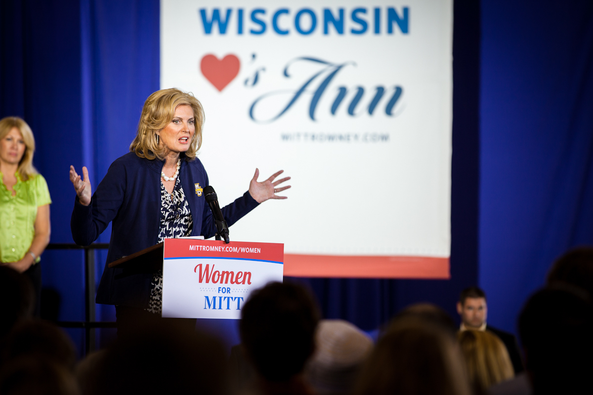 Ann Romney in Milwaukee