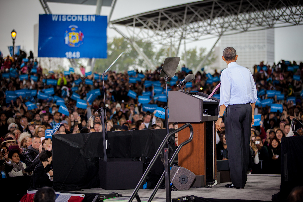 Obama in Milwaukee