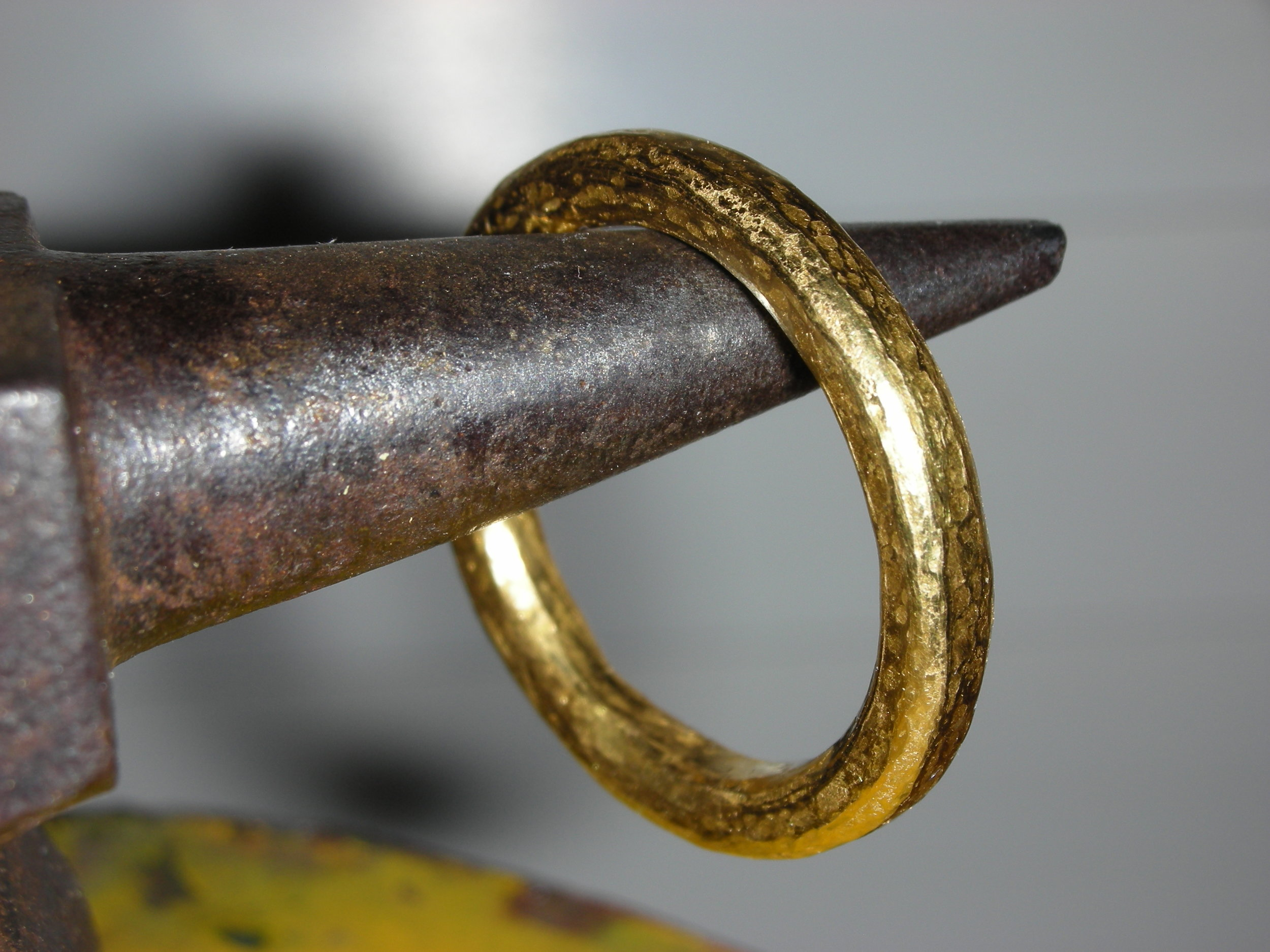 Hand forged in 18k gold