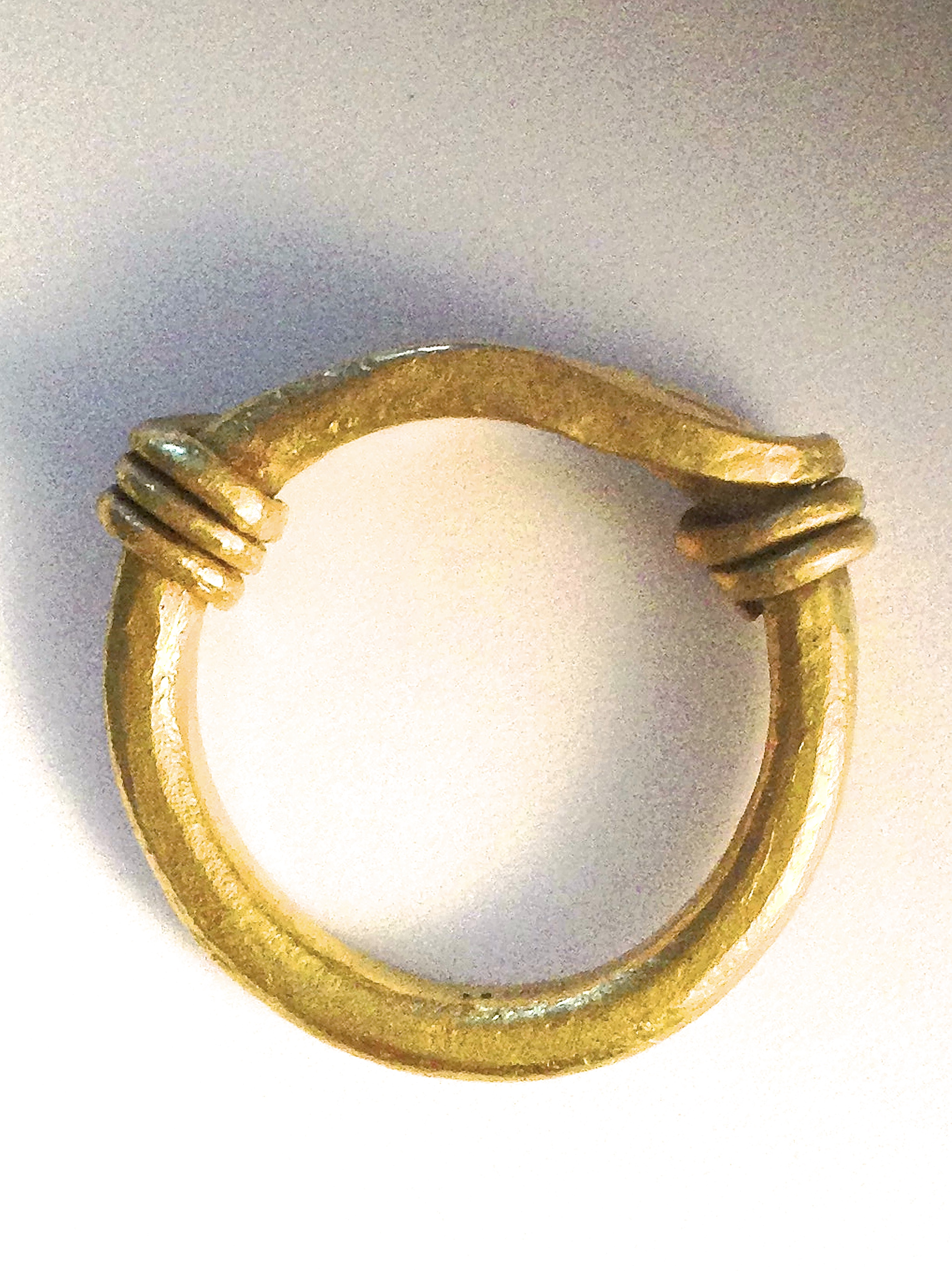 Another ring designed after an ancient form, with took on some magic in the making.