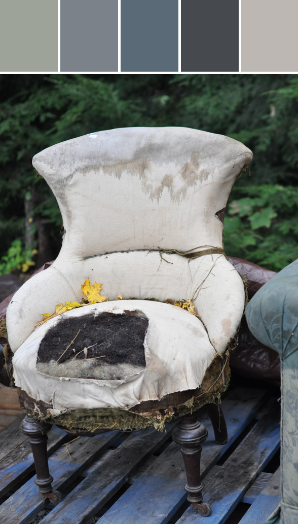 vintage chair, on a rainy weekend road trip to rhinebeck in upstate ny.
