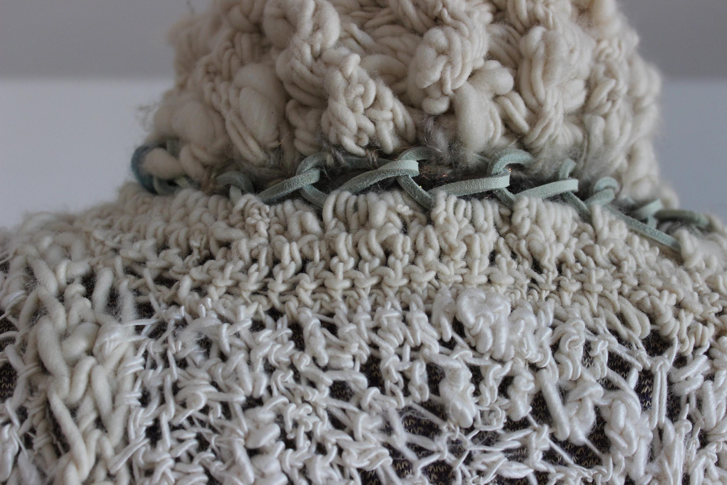 moonstone duster by laila grainawi, handmade fiber art