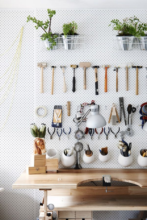 anyone who knows me, knows i love PEGBOARD. a compulsive re-arranger's dream!