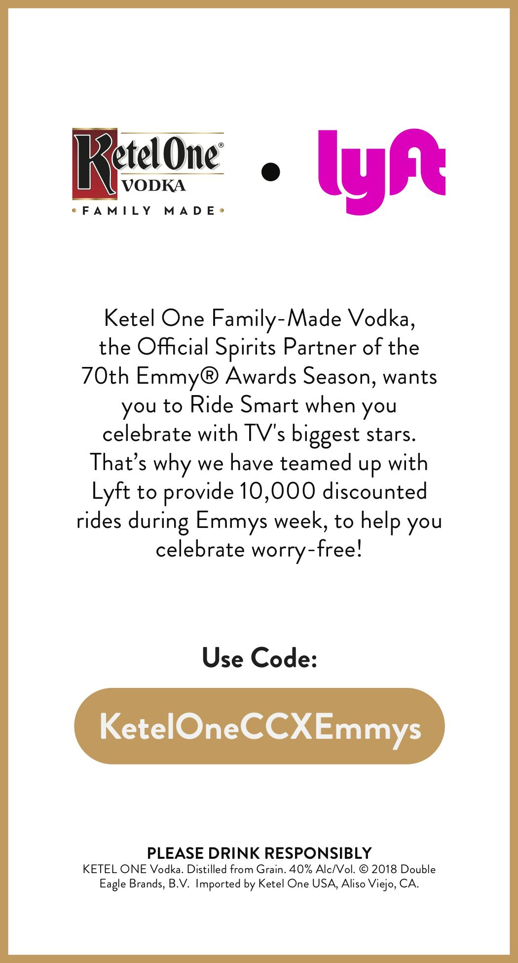 Ketel One Vodka Emmy Courier Lyft Card.png