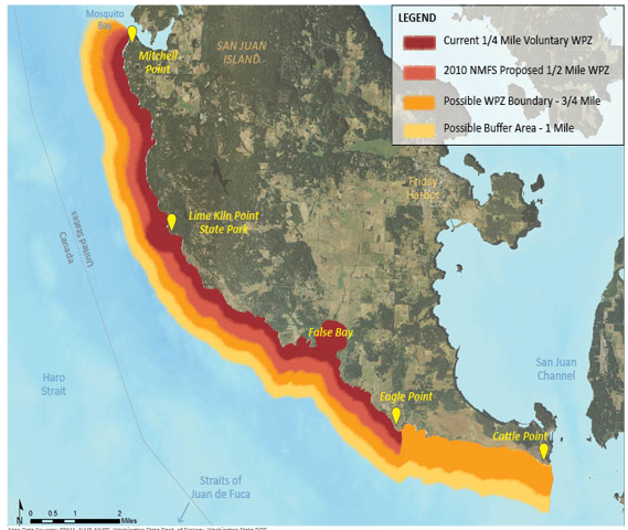Map Proposed San Juan Whale Protection Zone
