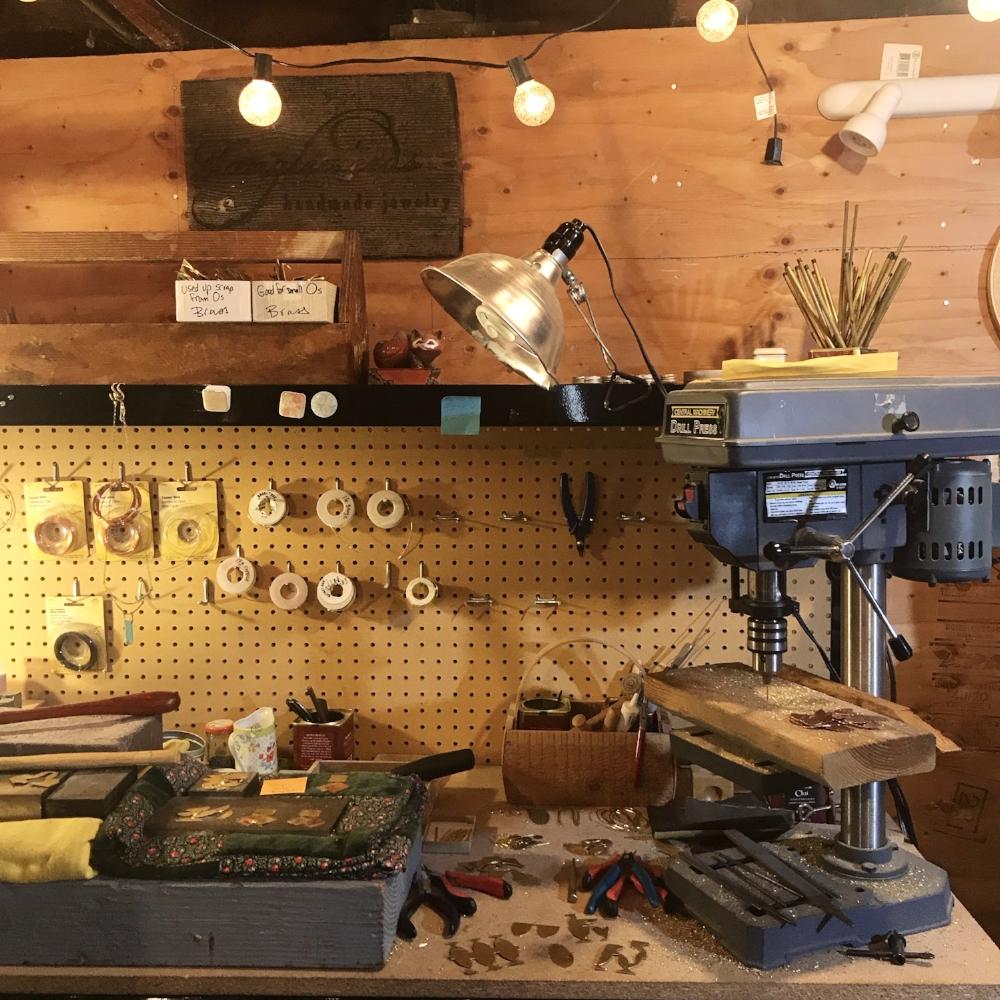 My workbench in my home studio
