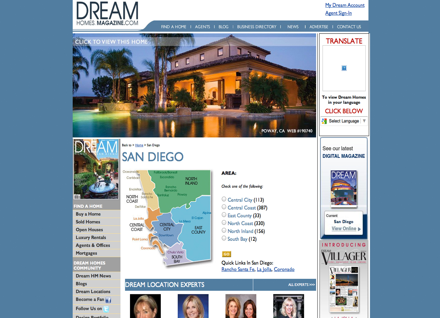 Sr. UI/UX Lead Design Architect  Real Estate Site: Created entire site for Dream Homes Magazine, Managed this entire project, Database Structure design and Layout.  Technology Used: Pen & Paper, Photoshop,Illustrator, Axure RP, Omnigraffle,PHP Cake, MYSQL, JSON,HTML5 & CSS3, Authorize.net API, PAYPAL API.