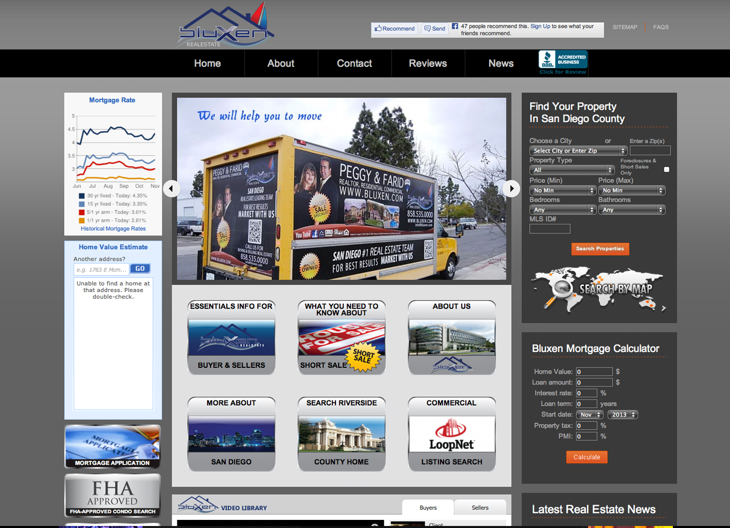 Real Estate: Managed, Designed this Entire Project, wrote the entire flow and Layout, a very small project as a favor to another dear friend. Used: Photoshop, Illustrator, Wordpress & Custom widgets, HTML5 & CSS3/