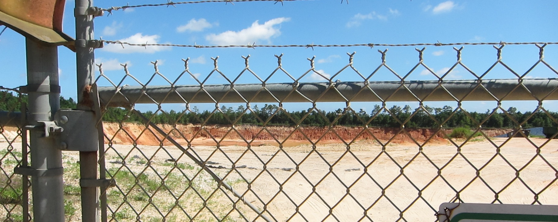 The closed Longleaf C&D Disposal facility on Longleaf Drive.