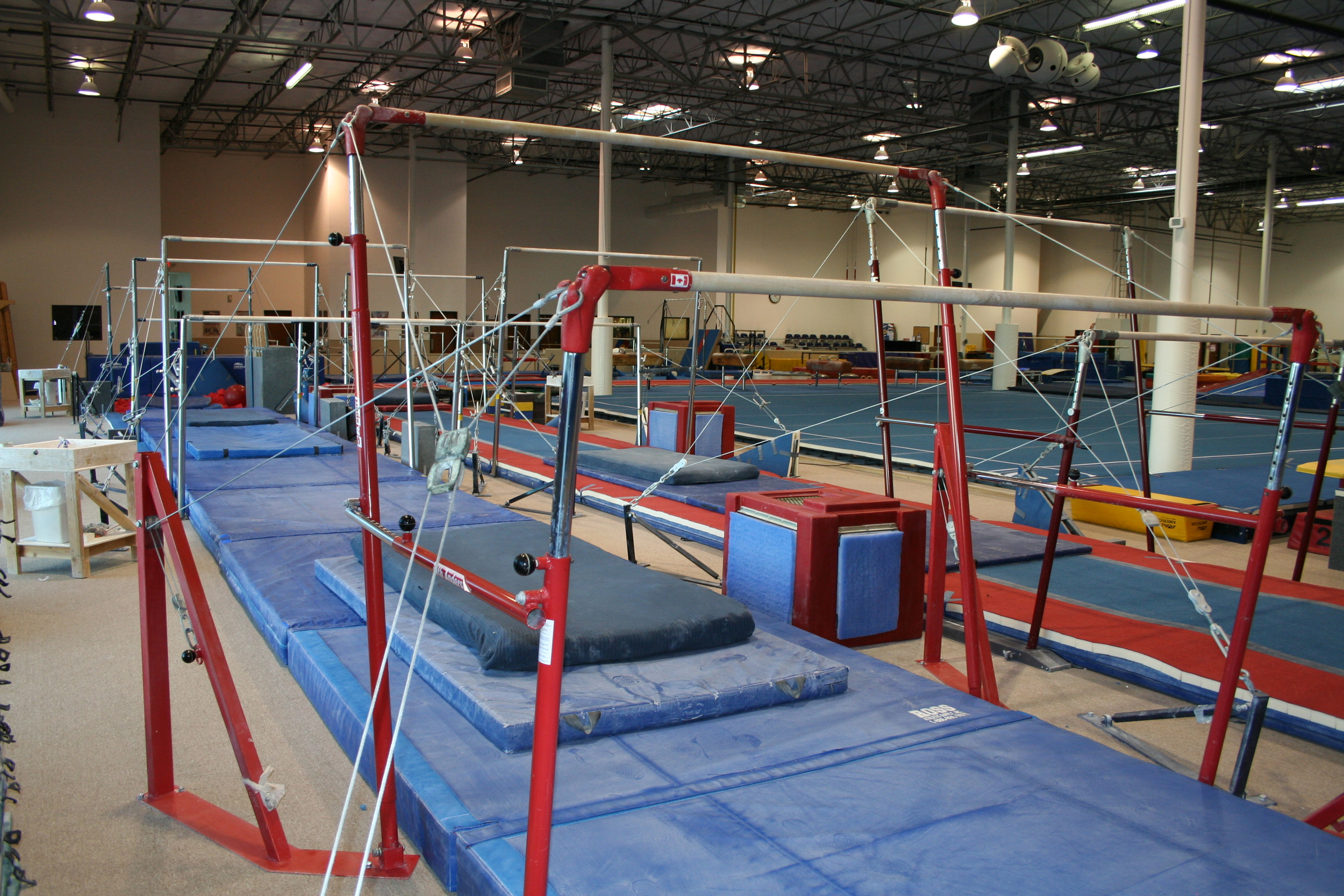 Cutting Edge. Many of the top Elite gymnasts in the country train with us, so we have to be knowledgable of the newest trends in our sport and stay updated with the newest domestic & international equipment.