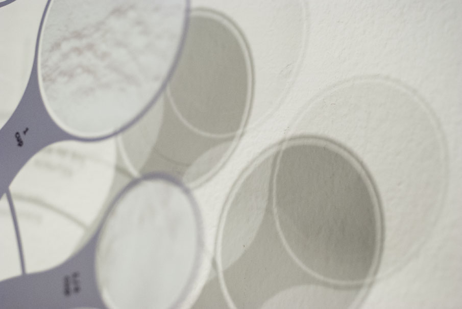 Detail of the measuring cup graphics and shadows.