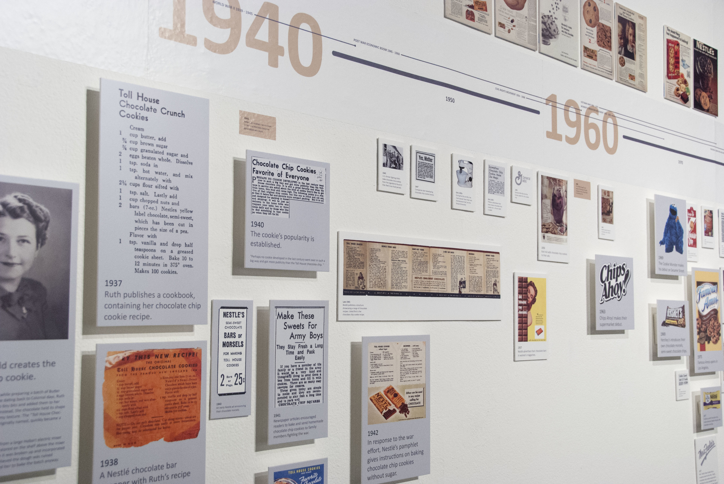 Detail of the  Timeline's  informational tiles.