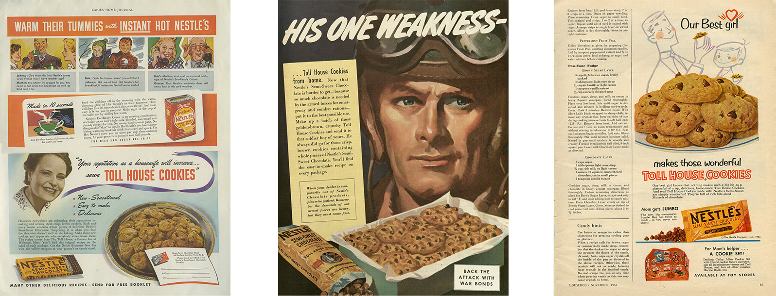 Nestle Magazine Ads - 1941, 1943 and 1954
