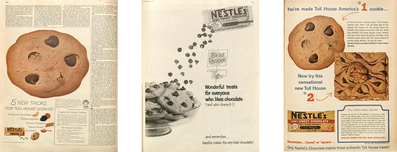 Nestle Magazine Ads - 1957, 1959 and 1960