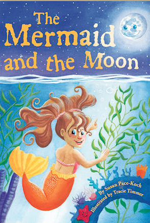 """To purchase or see a sneak peek of my debut children's book, """"The Mermaid and the Moon,"""" Click on the mermaid!"""
