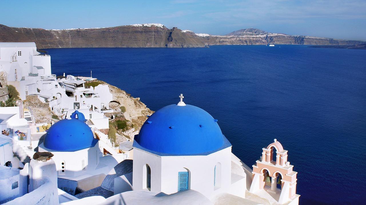 Santorini Greece Blue Fira Vacations Oia Dome