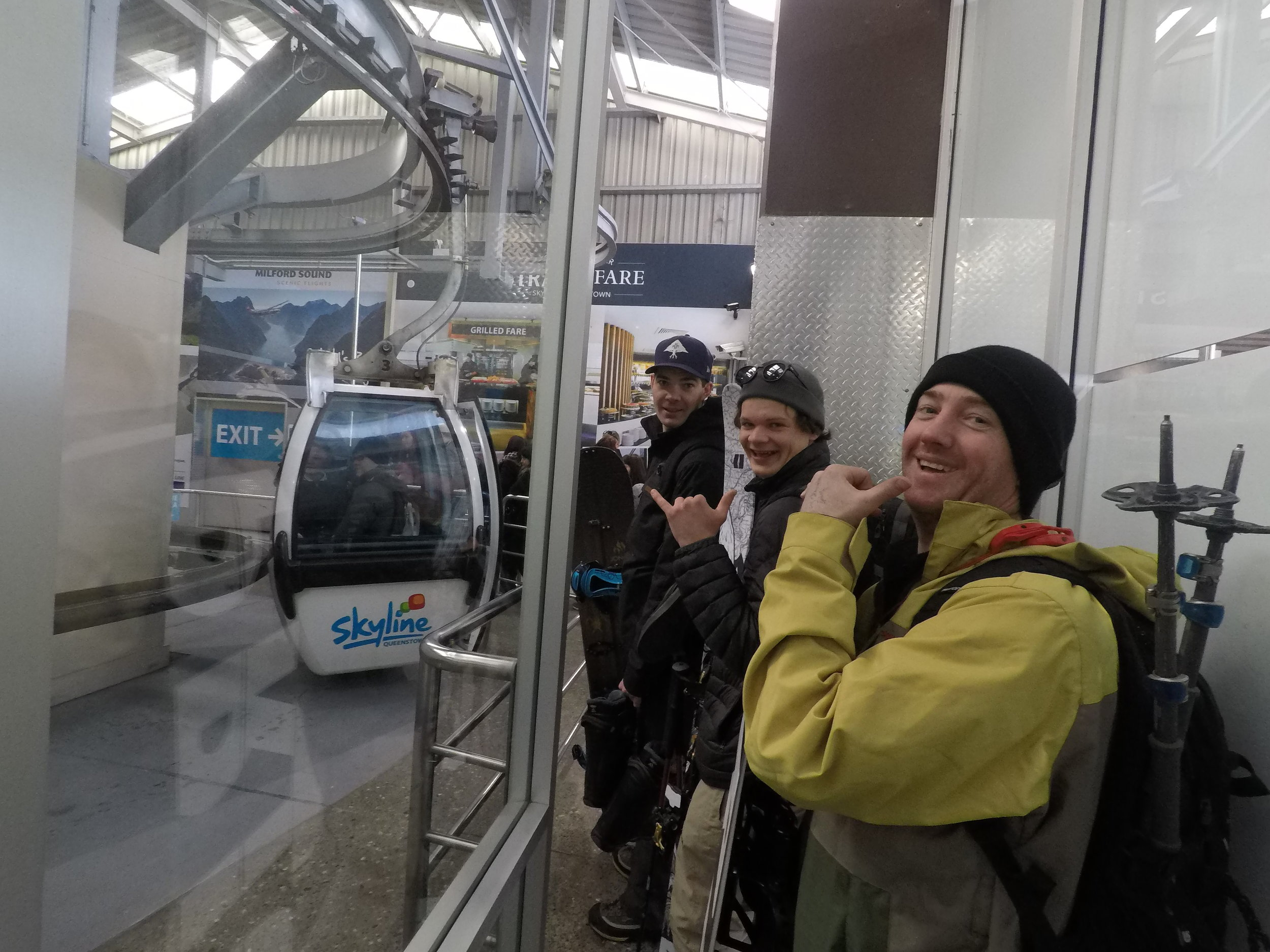A quick vertical rise of 450 meters using Skyline's gondola