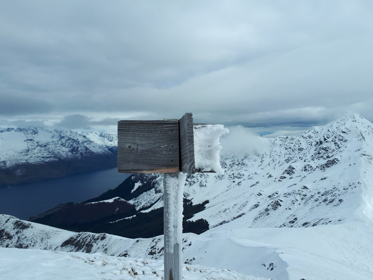Bowen Peak with the icy post pointing to Ben Lomond on the right.